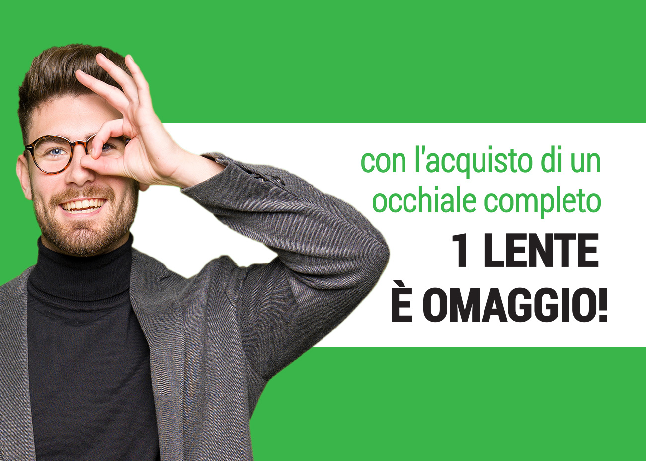 1 lente omaggio, Campagna dei Centri Ottici Associati, Centro Ottico Castelmaggiore